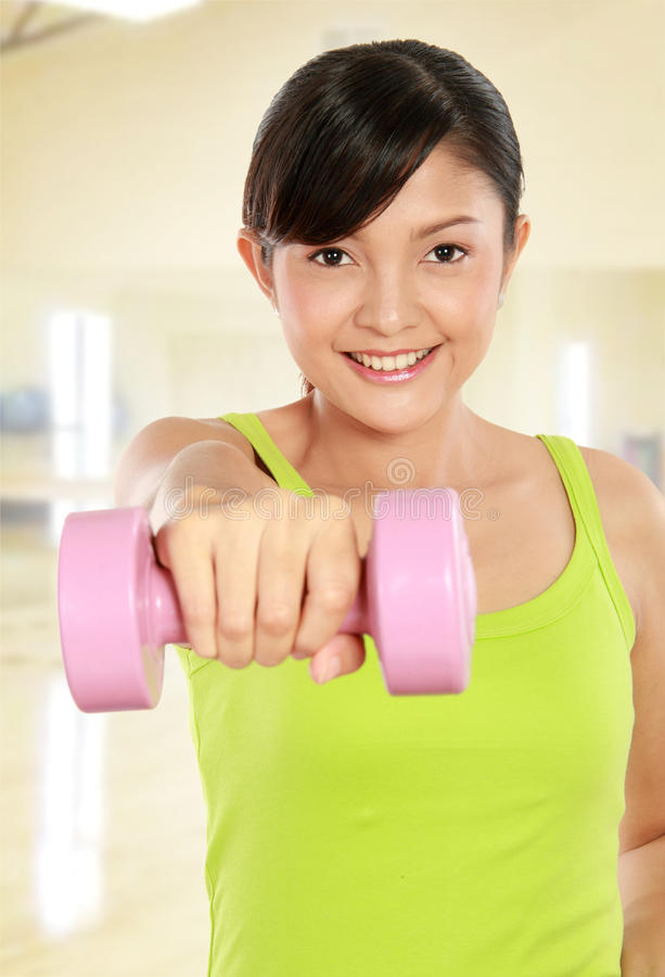 Download Exercising with dumbbells stock photo. Image of fresh - 23364802