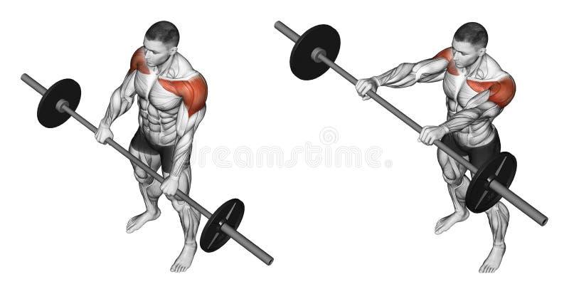 exercising Elevaciones adelante stock de ilustración