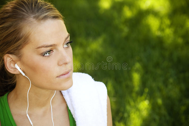 Exercising and Fitness Portrait royalty free stock photos