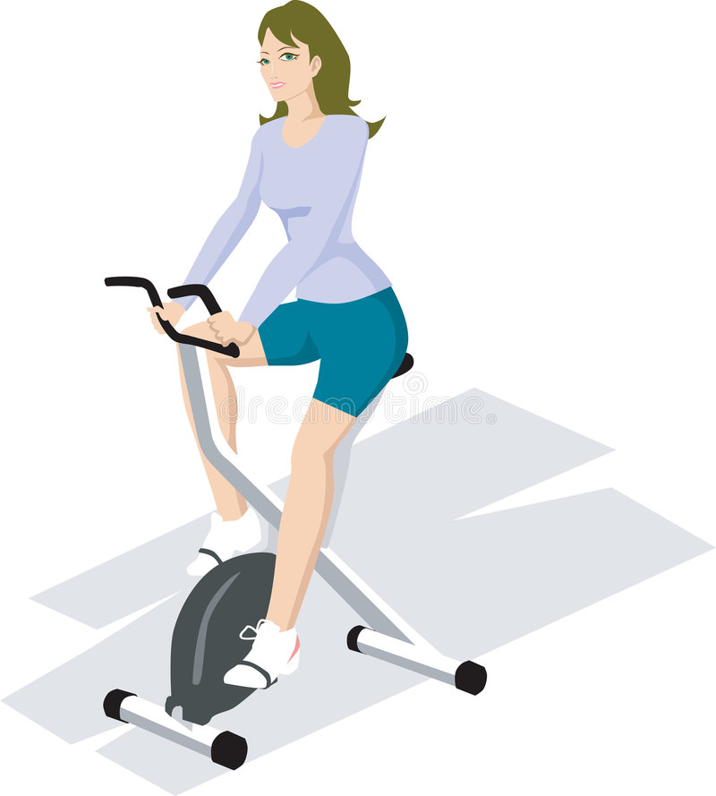 Exercising in gym vector illustration