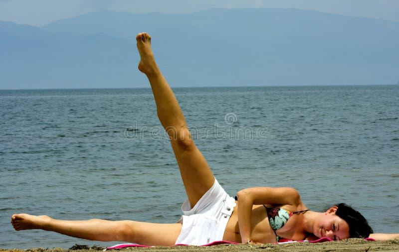 Exercising Lady Stock Photo