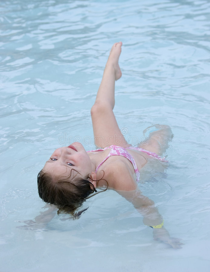 Exercising in pool stock photography
