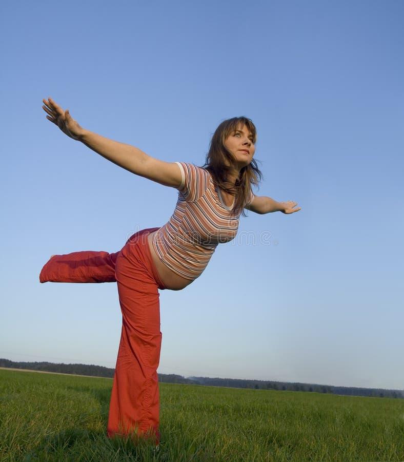 Exercising in pregancy stock image