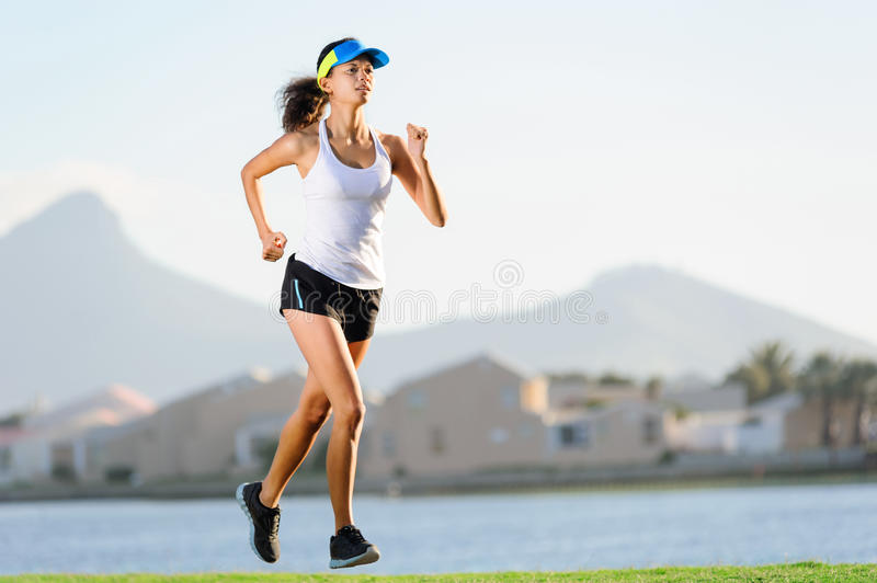 Exercising runner royalty free stock photography