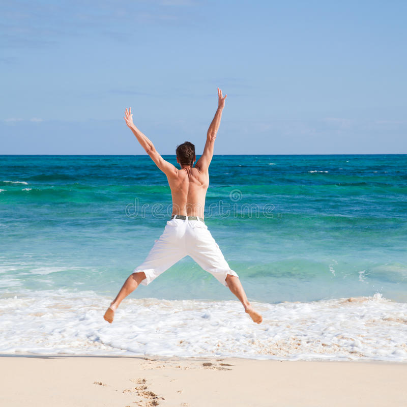 Download Exercising by the shore stock image. Image of tanned - 22624989