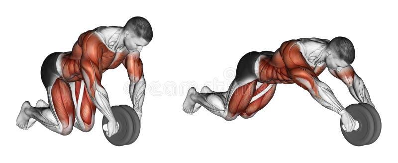 Exercising. Straightening simulator wheel stock illustration