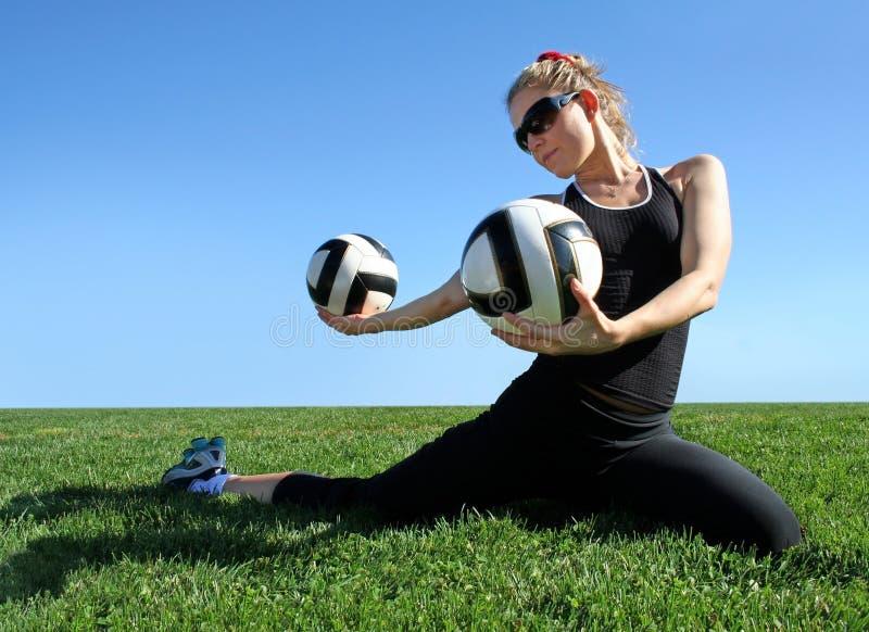 Exercising woman royalty free stock image