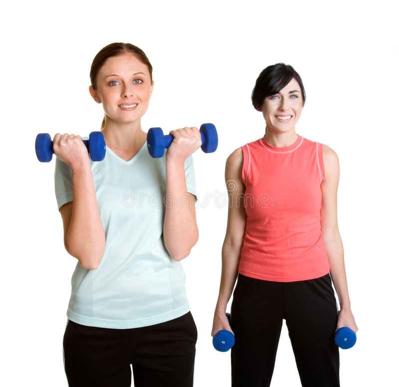 Exercising Women royalty free stock images