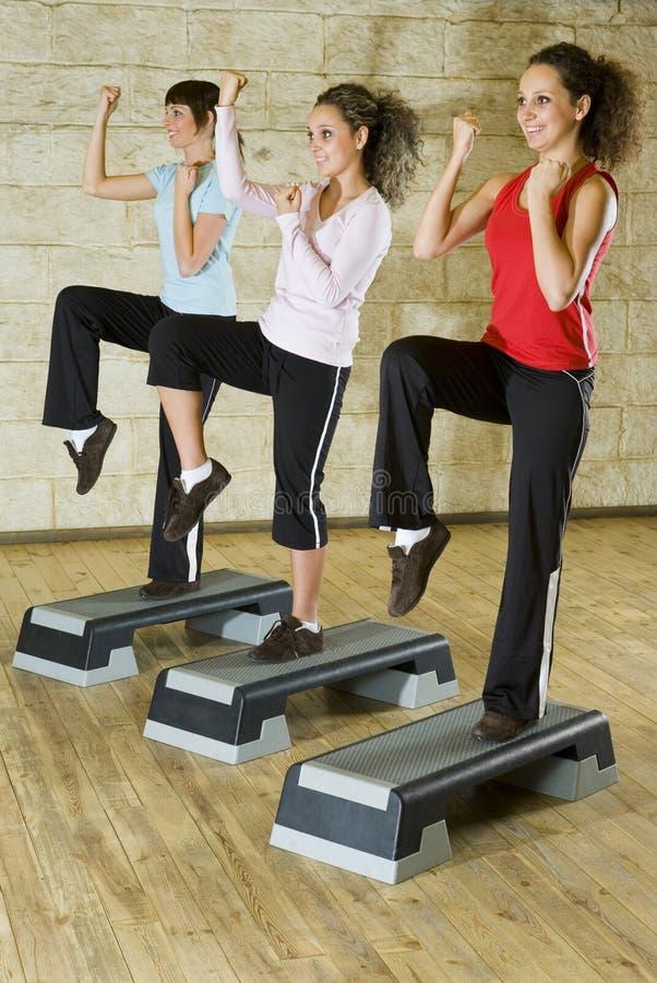 Exercising women stock photos