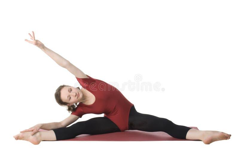 Exercitando a mulher foto de stock
