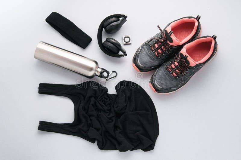 Exersice clothing flatlay stock photo