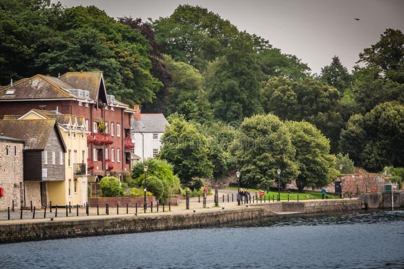 Exeter brzeg rzeki zdjęcia stock