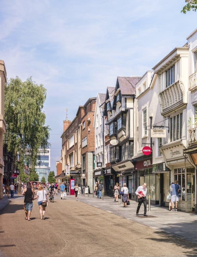 Exeter głowna ulica Devon UK zdjęcia stock