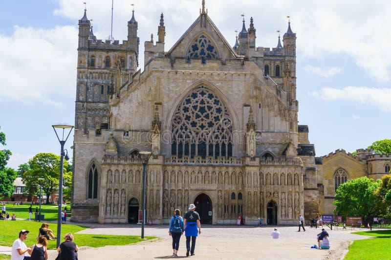 exeter 2 juin 2018 Cathédrale d'Exeter ou la cathédrale de l'apôtre Peter à Exeter - la cathédrale de l'Église Anglicane dedans image stock