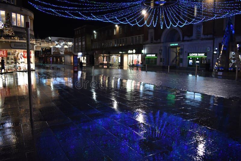 Exeter julljus royaltyfria bilder