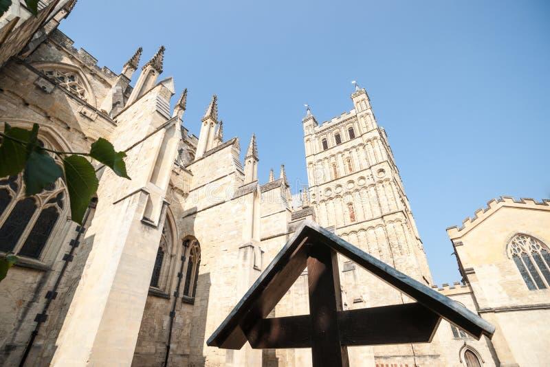 Exeter katedra. obraz stock