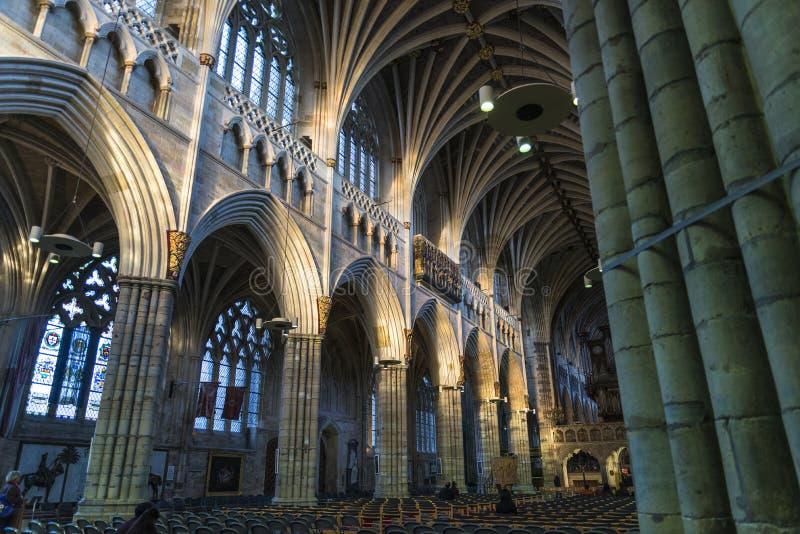 Exeter katedra, Devon, Anglia, Zjednoczone Królestwo zdjęcia stock