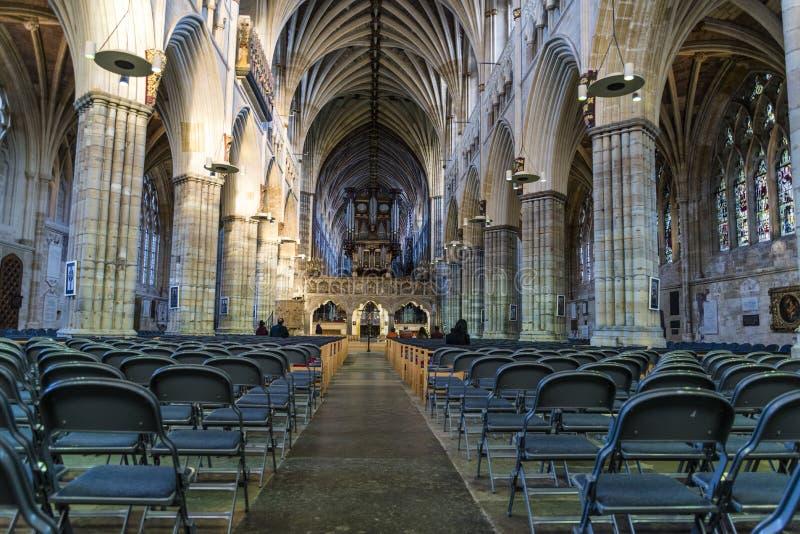 Exeter katedra, Devon, Anglia, Zjednoczone Królestwo zdjęcie stock