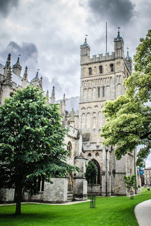 Exeter katedra, Devon UK zdjęcie stock