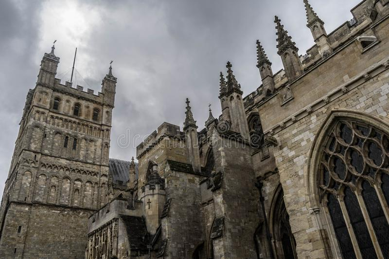 Exeter katedra zdjęcie stock