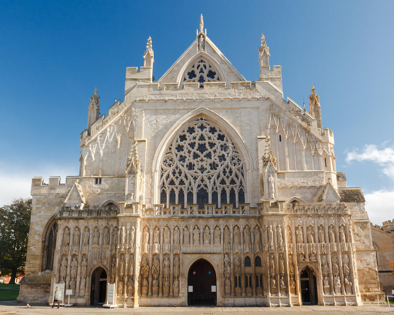 Exeter Katedralny Devon Anglia UK fotografia stock