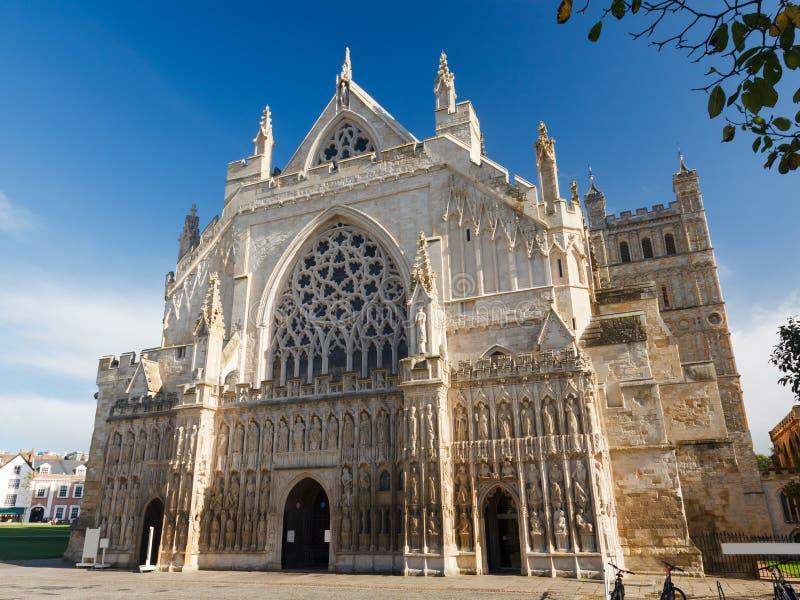 Exeter Katedralny Devon Anglia UK fotografia royalty free