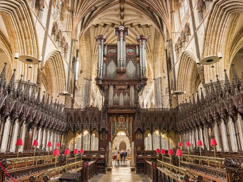 Exeter katedry wnętrze zdjęcie stock