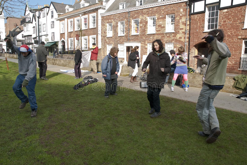Download Exeter Occupy Activists Dance On Cathedral Green Editorial Image - Image: 23374075