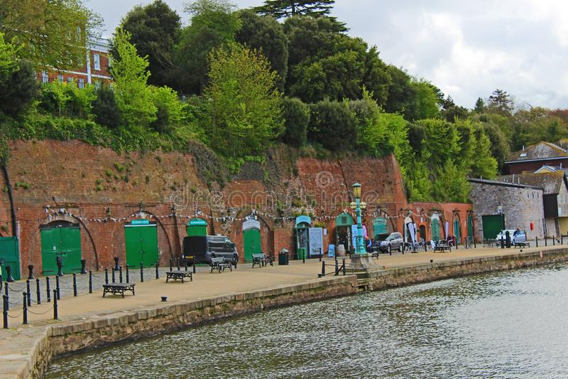 exeter quay obrazy royalty free