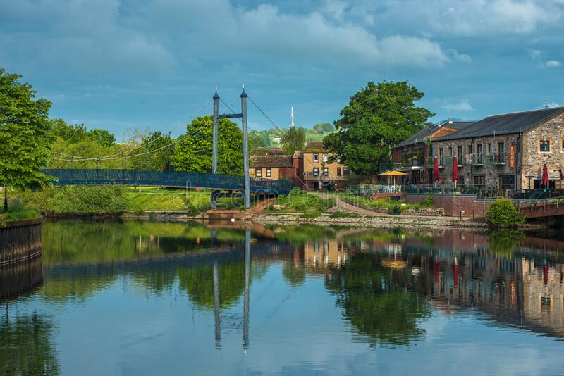 Exeter Quay or Quayside. In early morning light. Devon, England, UK royalty free stock images