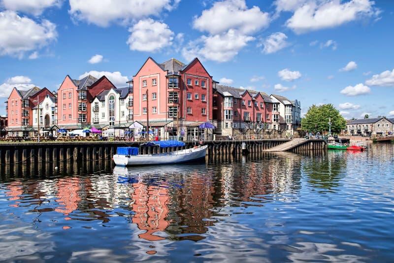 Exeter Quays W lecie obrazy royalty free