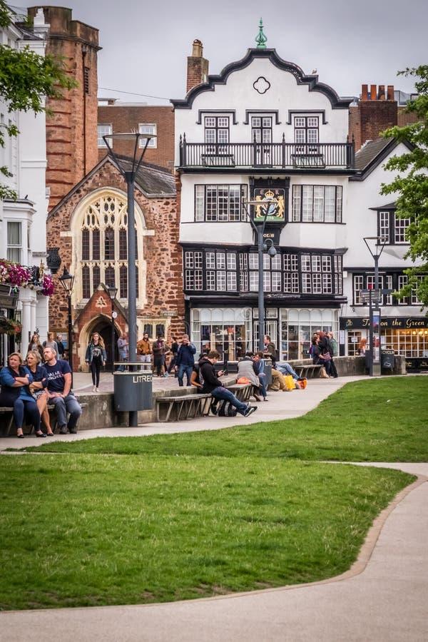 Exeter stary miasteczko fotografia stock