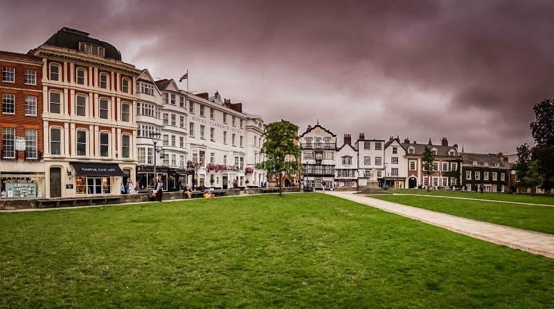Exeter stary miasteczko zdjęcia royalty free
