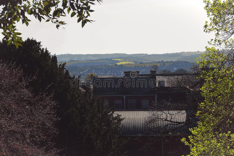 Exeter widoki od kasztelu zdjęcia stock