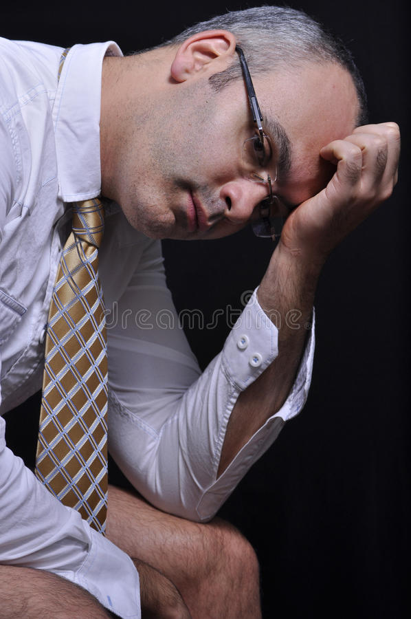 Download Exhasted man stock image. Image of worries, stress, portrait - 16794763