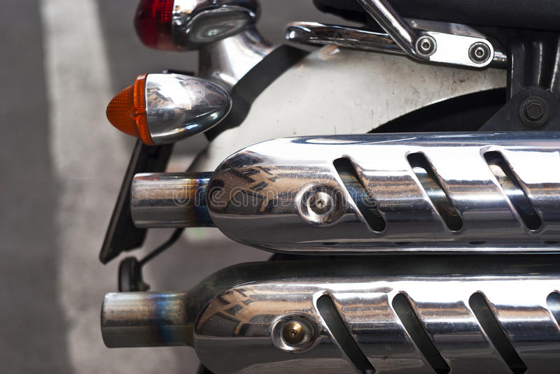 Download Exhaust of a bike stock photo. Image of double, congestion - 30443698