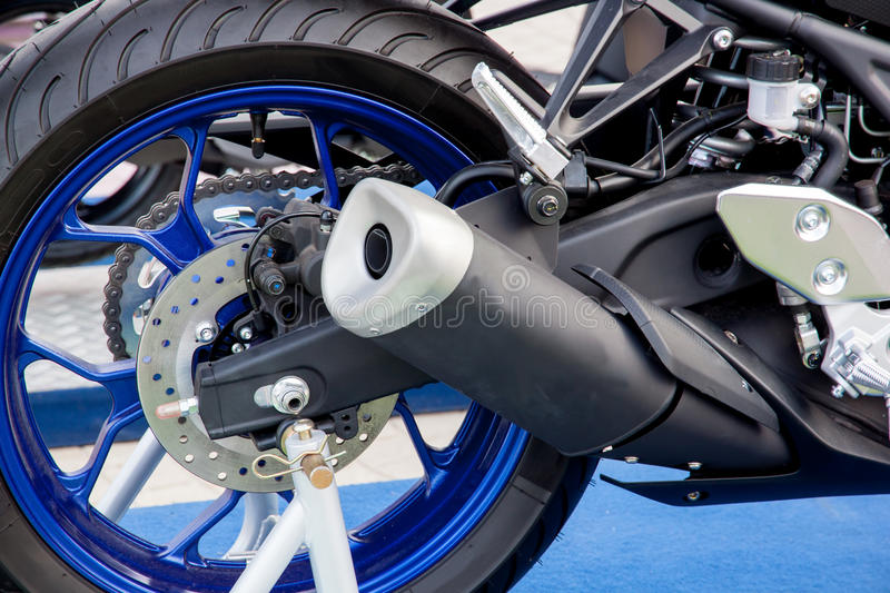 Exhaust motorbikes royalty free stock images