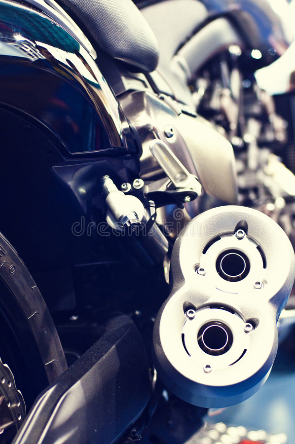 Free Exhaust Of A Speed Motor Bike Royalty Free Stock Image - 8928106