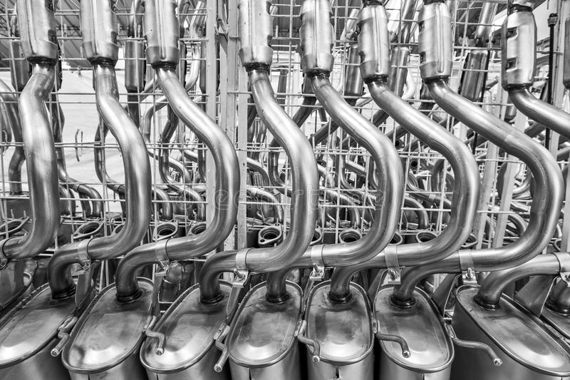 Exhaust Pipes Factory stock photos