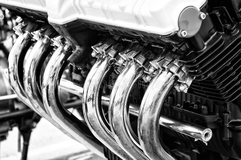 Download Exhaust pipes stock photo. Image of white, motorbike - 33058718