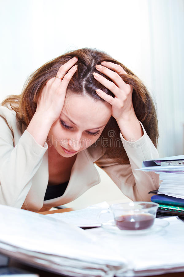 Download Exhausted  businesswoman stock image. Image of human - 21433929