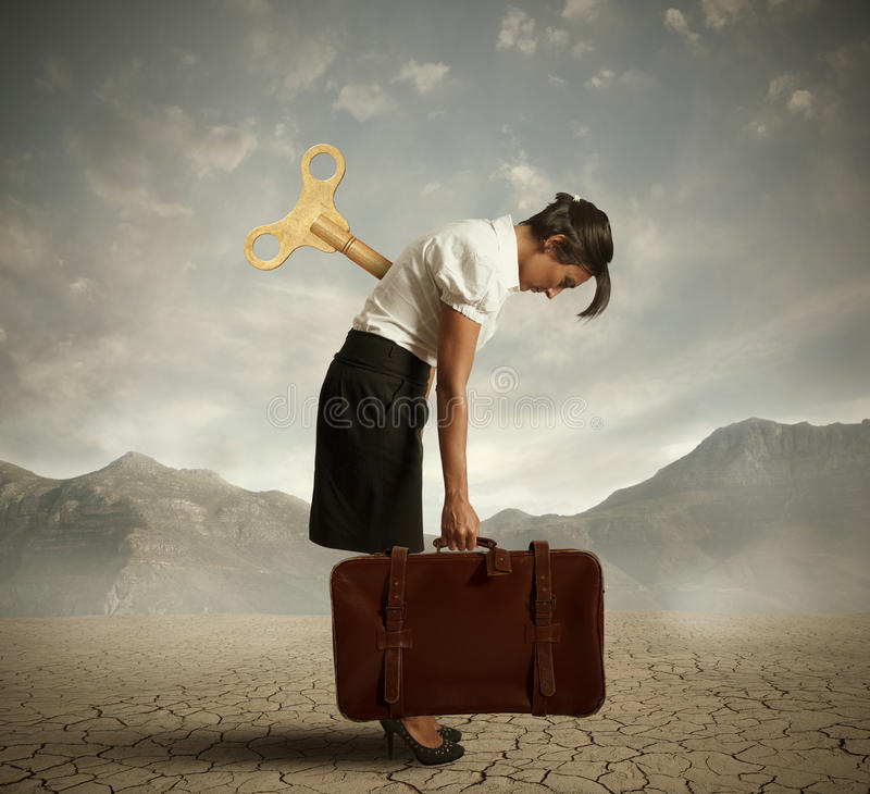 Download Exhausted businesswoman stock image. Image of discharge - 28303817