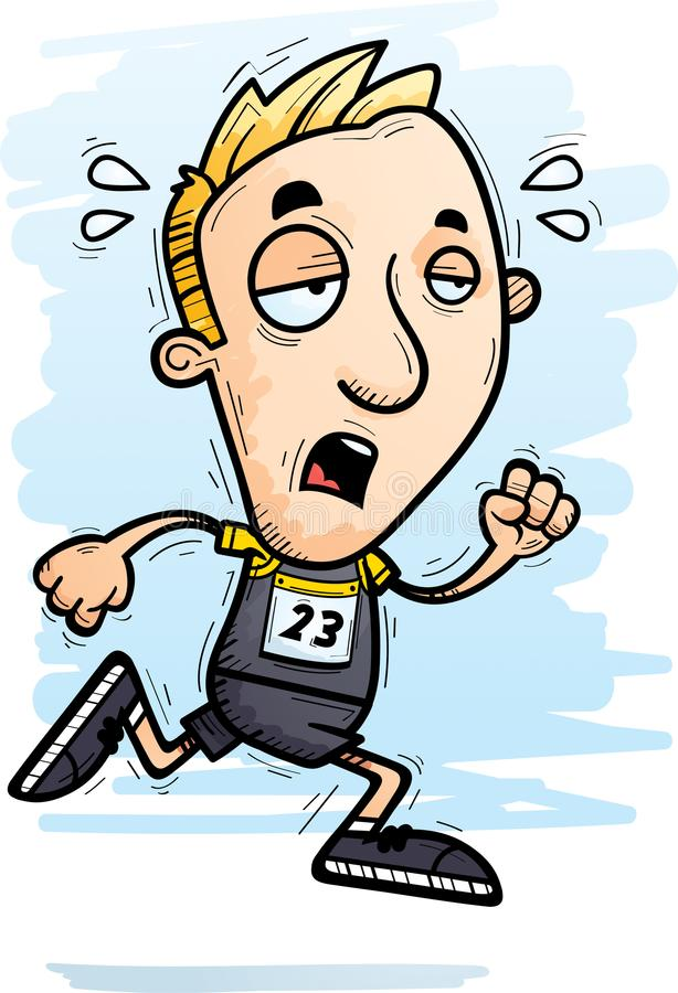 Free Exhausted Cartoon Track Athlete Stock Image - 115815561