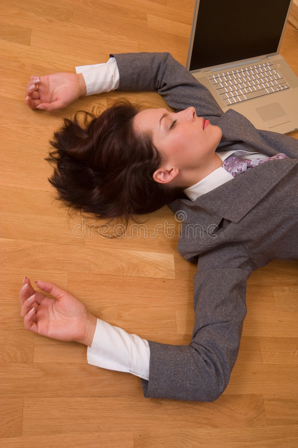 Download Exhausted girl stock image. Image of secretary, beautiful - 3328107