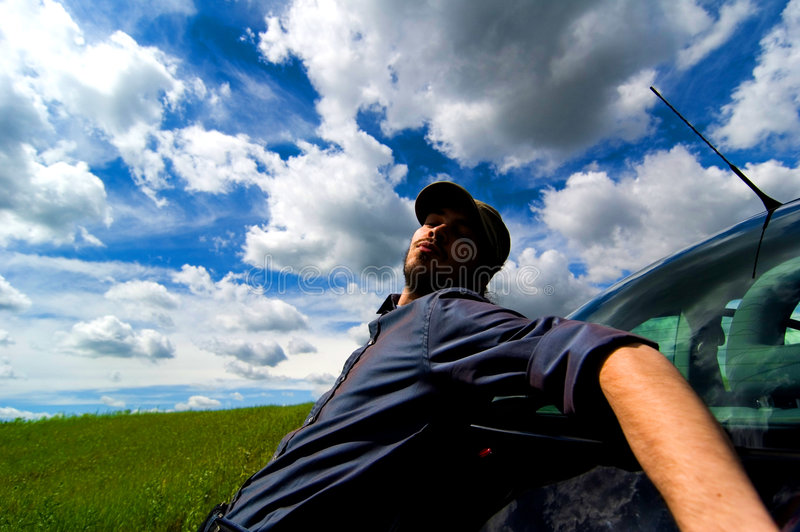 Exhausted Man stock image