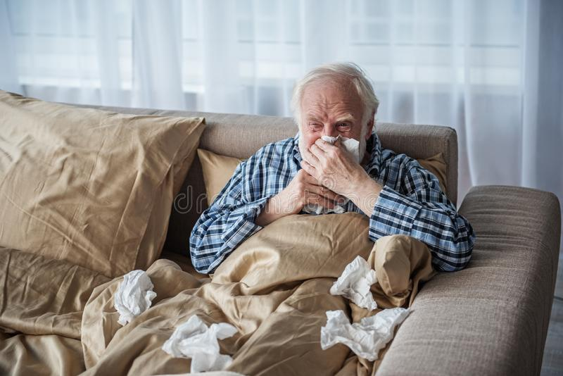 Old Man Blowing His Nose Stock Photos Download 59 Royalty Free