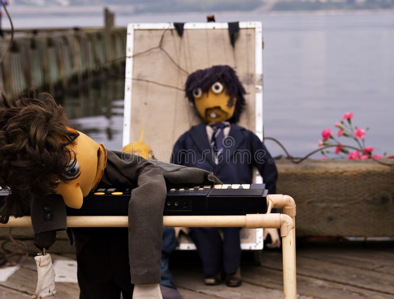 Download Exhausted puppets stock photo. Image of keyboard, busker - 1025912