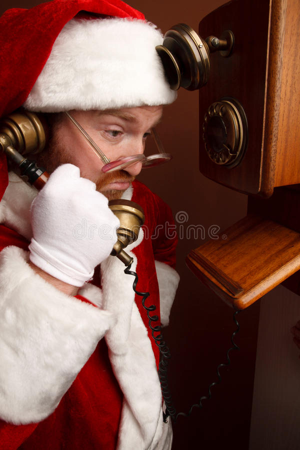 Exhausted Santa stock photos