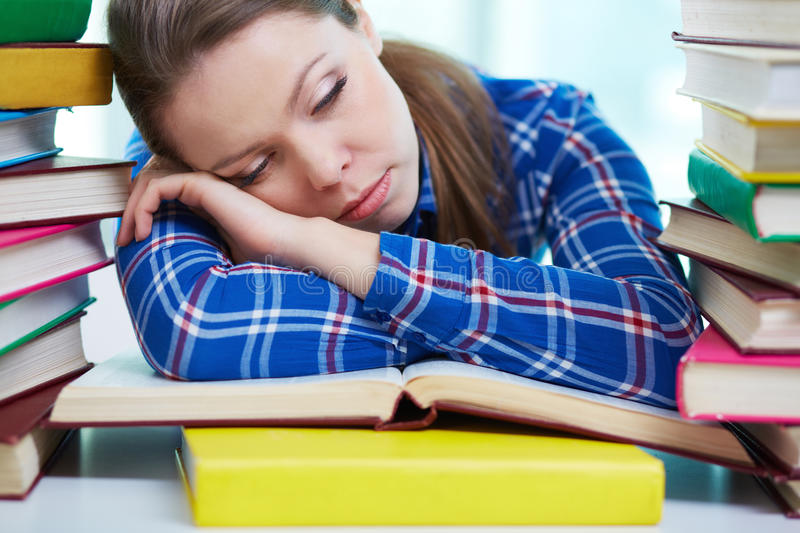 Exhausted royalty free stock photo