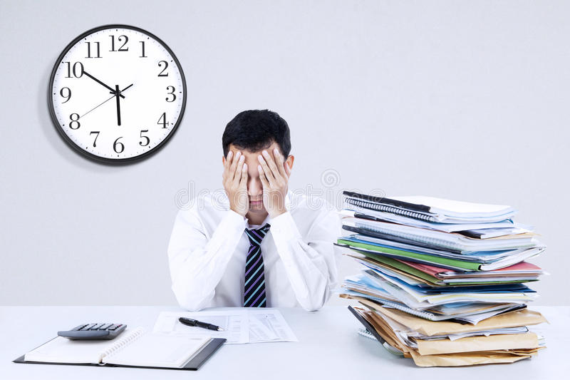 Download Exhausted Young Businessman Stock Photo - Image: 39285534